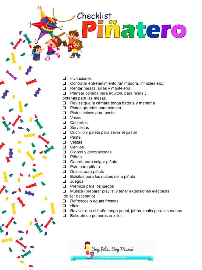 checklist piñatero