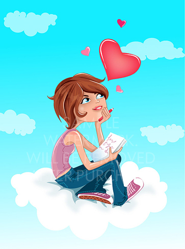 vector-illustration-of-a-teen-girl-sitting-on-the-cloud-writing-a-love-letter.1400.1463